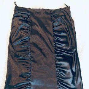 Boston proper Black Satin skirt